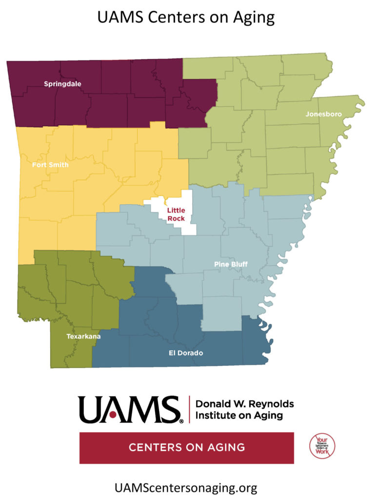 UAMS Center on Aging Locations Map