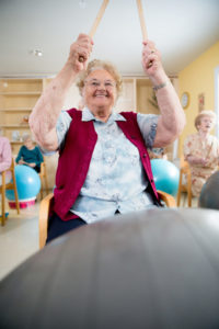 Senior Woman Enjoy Having Physical Therapy In The Reteirement Community